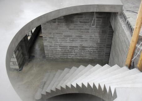 Schody wachlarzone